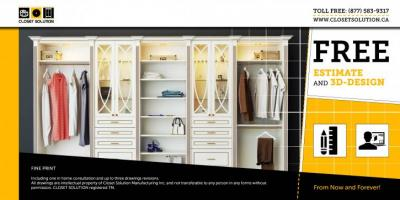 Free Estimate and 3D design from ClosetSolution