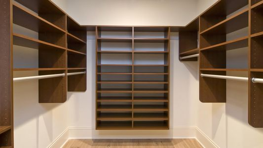 Brown Walk-in Closet