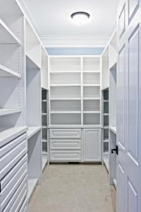White Closet with 1-1/2 Side Panels